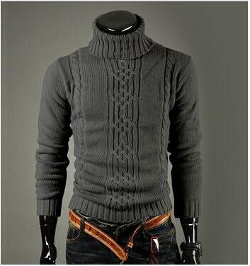 New fashion homens Pullover camisola de gola alta camisola de lã inverno puxar Homme homens Plus Size padrões homens camisolas dos homens