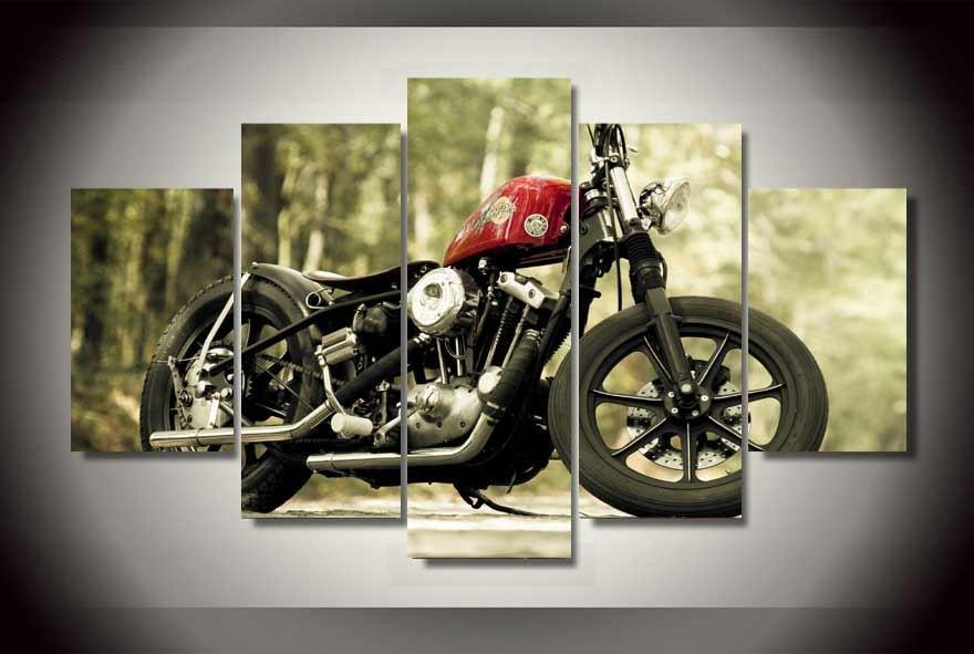 2017 cool motorcycle oil wall painting cheap wall picture art decor on canvas no framed for home. Black Bedroom Furniture Sets. Home Design Ideas