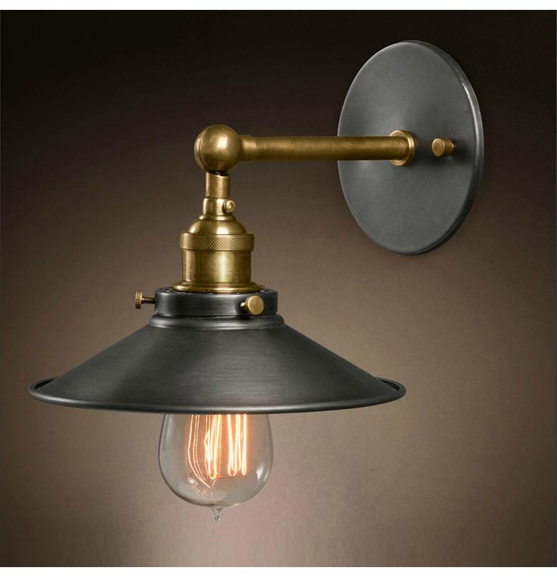 Industrial Vintage Retro Iron Wall Lamps Unberlla Black