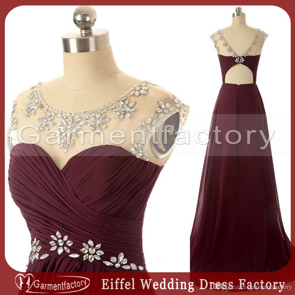 Maroon Prom Dresses 2016 Real Image Sweetheart Neckline A Line ...