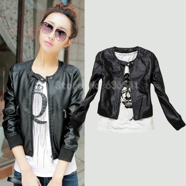Leather Jacket Women 2016 Spring New Women&39s Outerwear Jacket And