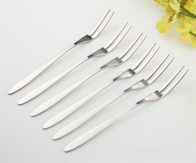 12.8*0.8cm New Designed Reusablestainless Steel Fruit Fork ...