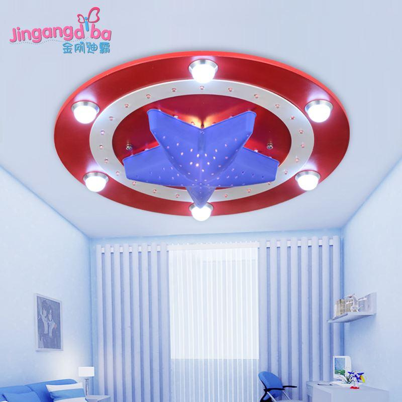 2017 captain america cartoon creative kids room ceiling for Kids ceiling lights for bedroom