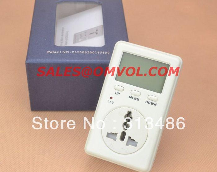 Plug In Watt Hour Meter : Watt hour meter uk plug digital display ac v from