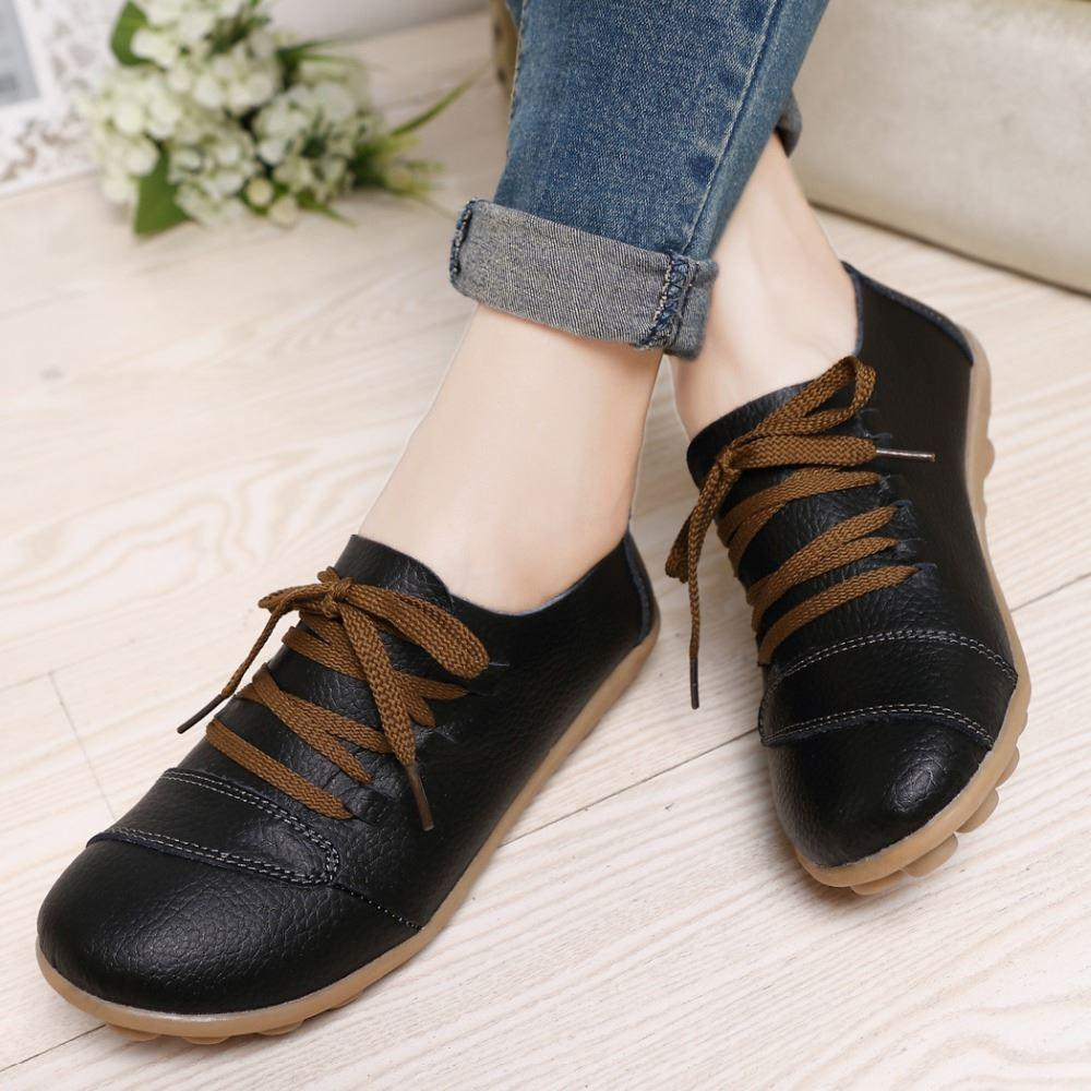 Shoes Woman Plus Us Size 12 13 Women Genuine Leather Shoes ...