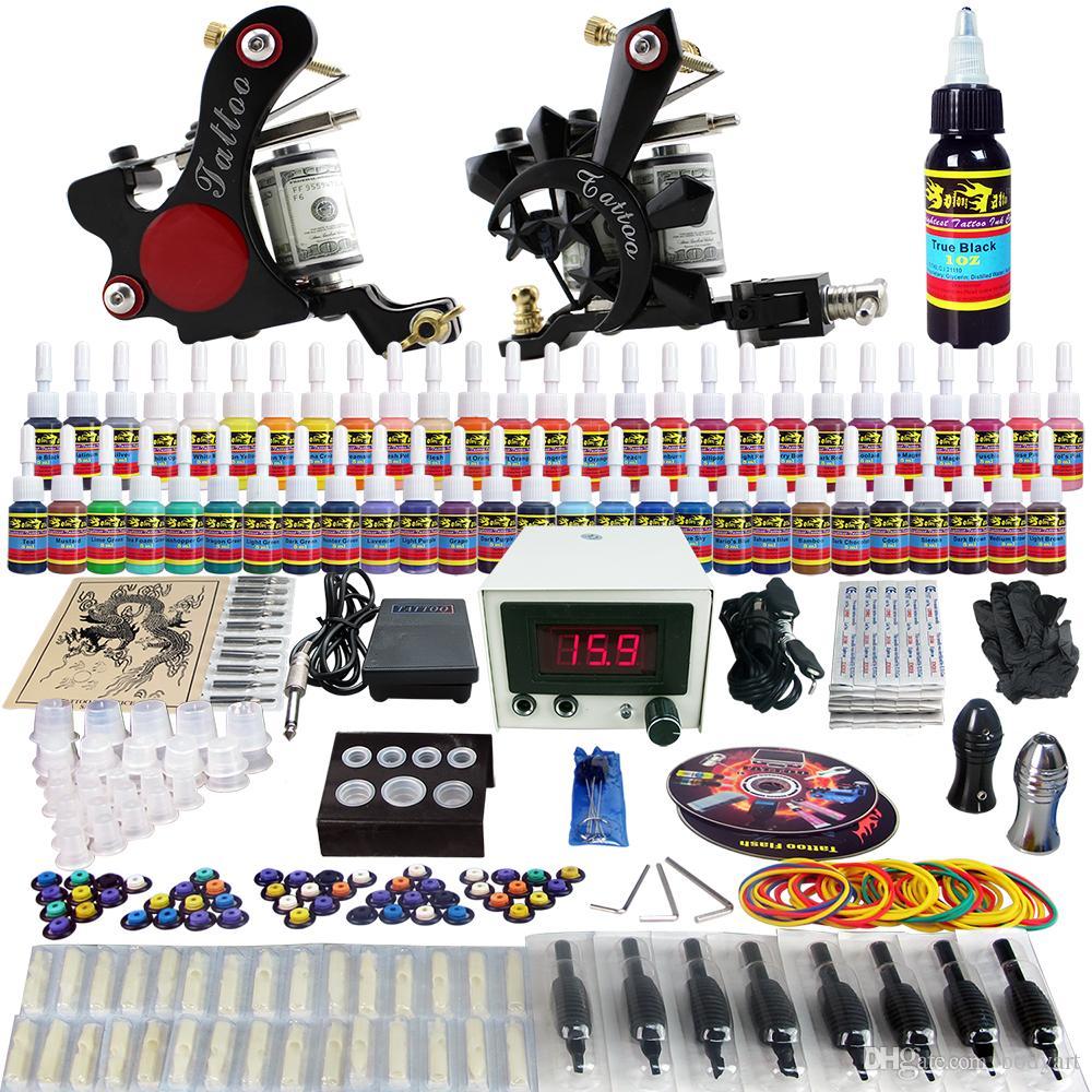 Solongtattoo wholesale sale tattoo kit 2 beginner machine for Tattoo gun kits for sale