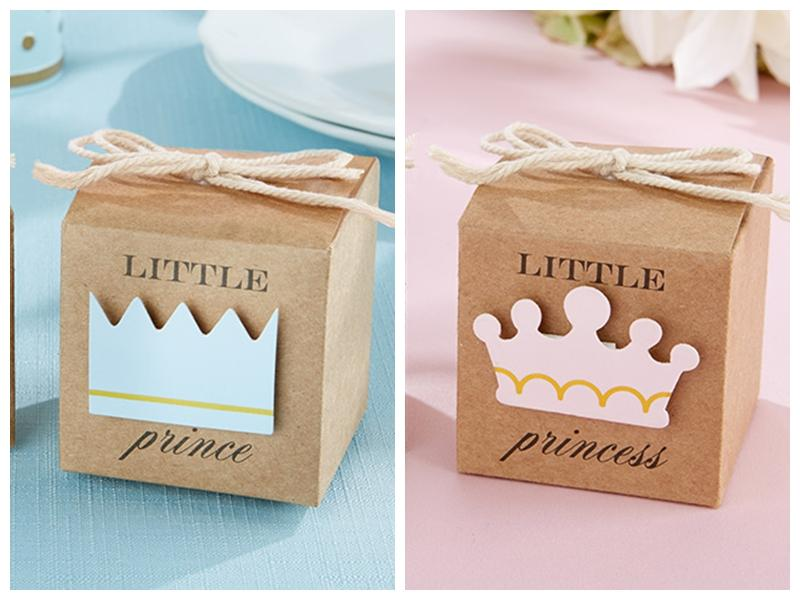 2016 baby shower favors of little prince kraft favor boxes for baby