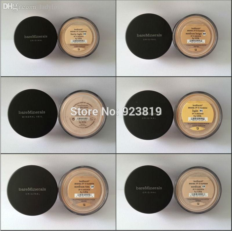 Wholesale Bare Minerals Foundation Illuminating Mineral Veil,Tinted Mineral Veil,Medium Tan,Medium Beige,Summer Bisque,Golden Medium,Tan ! Natural Cosmetics Powder Foundation From Ladylove, $653.76| Dhgate.Com