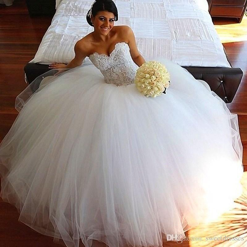 Real Picture Bride Dress 2015 Ball Gown Wedding Dresses Beaded ...
