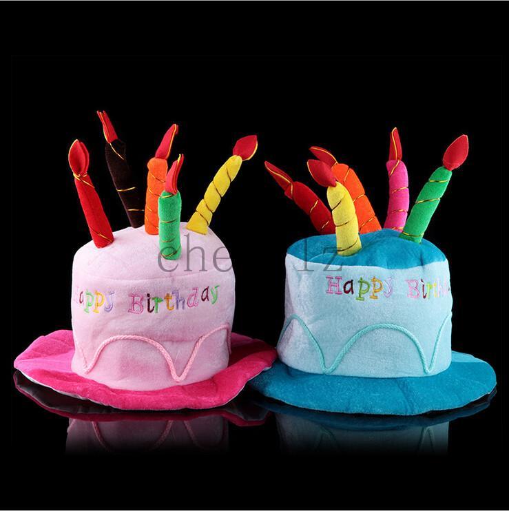 New Stylish Design Unisex Adult Birthday Cake Candle Funny Cap