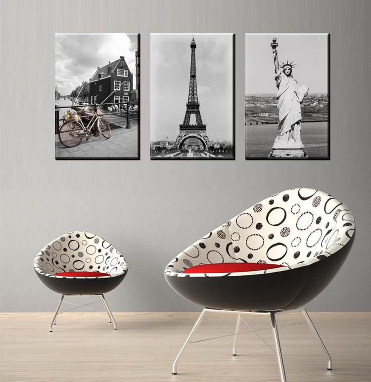 Modern Home Decor Painting Canvas Simple Black White Scenery Wall Mural Picture Art Poster Unframed Hb24