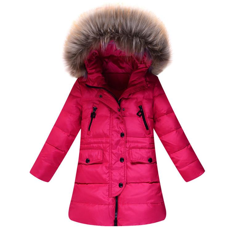 Winter Children Down Jackets Teenage Girls Down Winter Jacket Fur