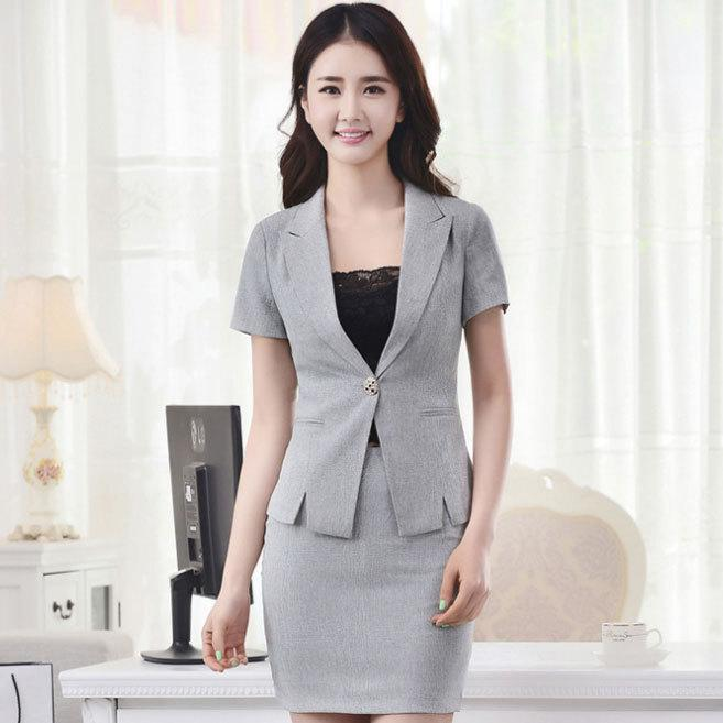 2017 elegant summer style office uniform designs female for Office uniform design 2015