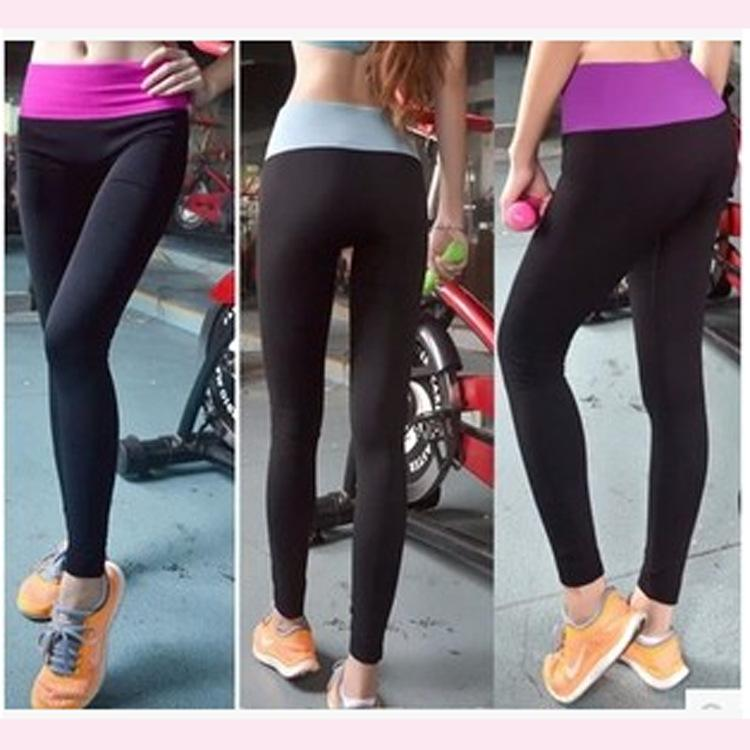 2017 High Elastic Tight Yoga Pants Sport Running Exercise Gym ...