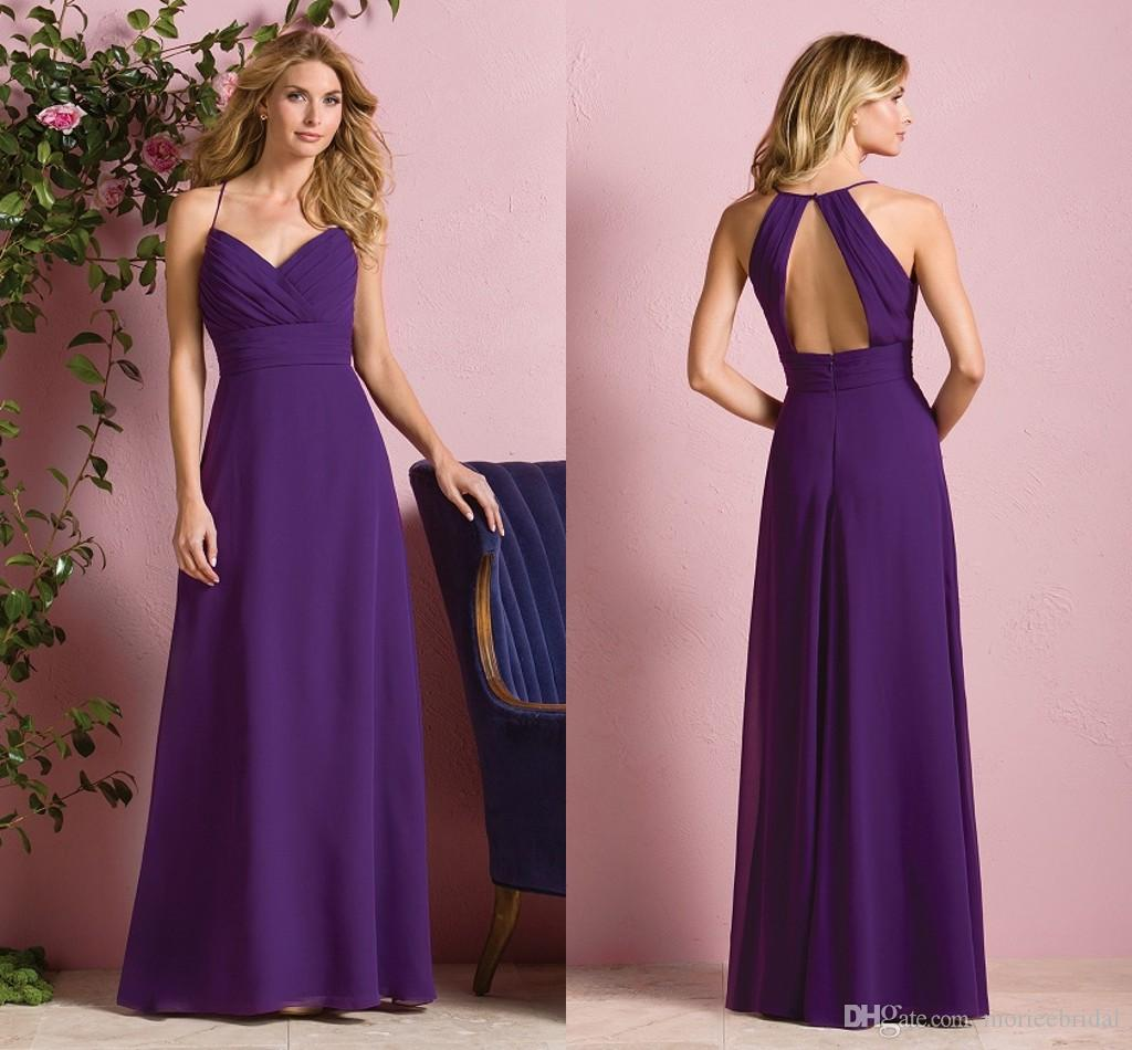 Fashion purple long bridesmaid dresses under 100 for Long wedding dresses under 100