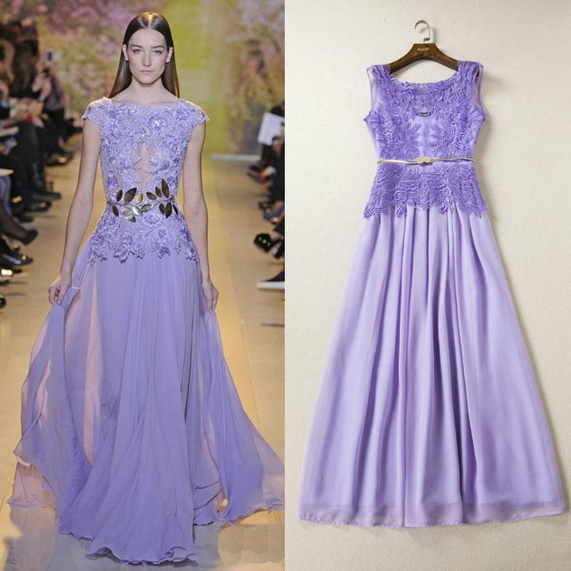 2015 zuhair murad evening dress light purple o neck for What does hollow to floor mean