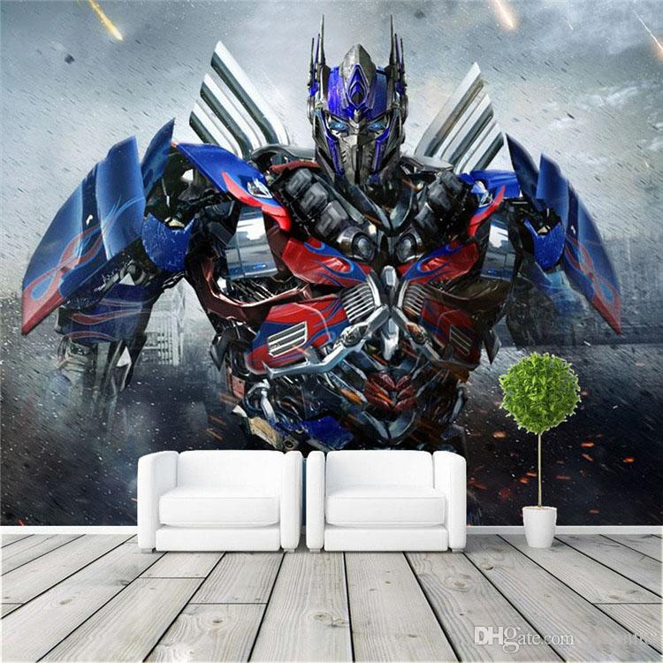 Optimus Prime Photo Wallpaper 3D Transformers Photo Wallpaper Large Wall  Art Mural Room Decor Bedroom Kidu0027s Room Living Room Home Decoration Large  Wall Art ...