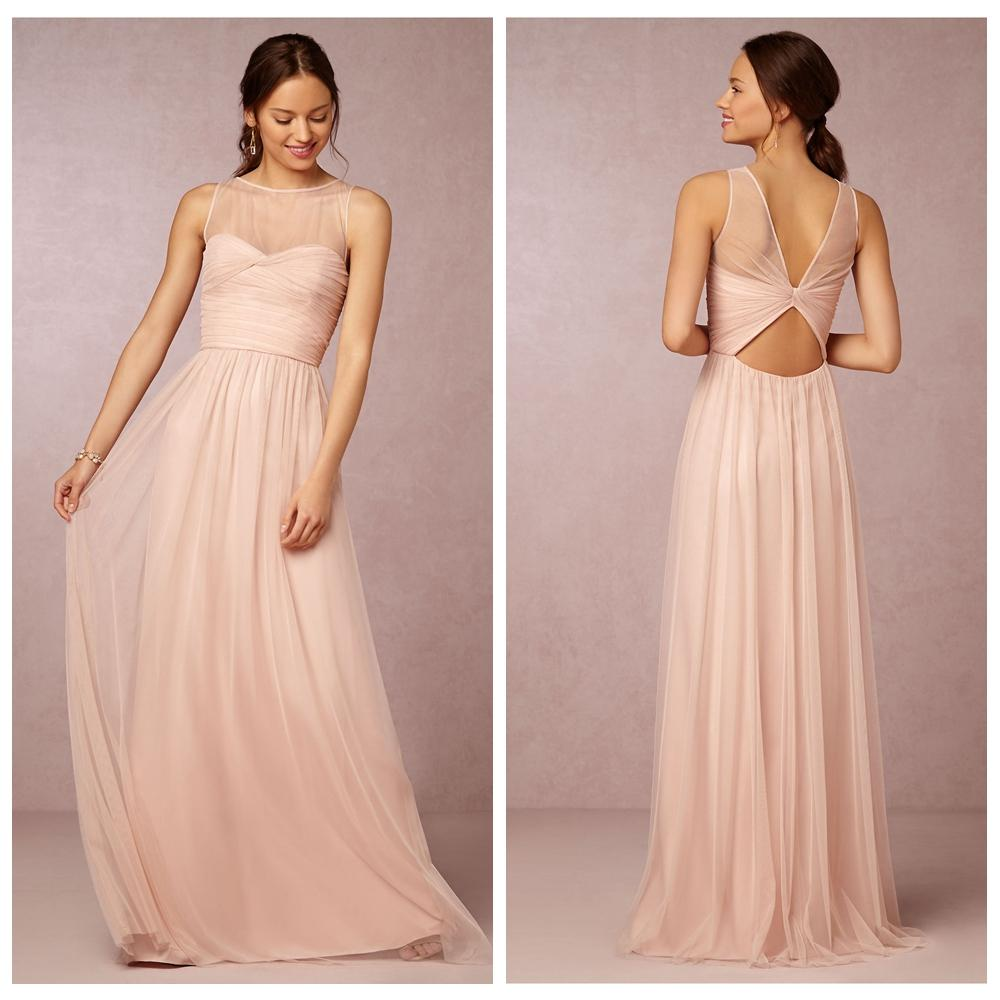Blush Bridesmaid Dresses Cheap 2015 Formal Dress Plus Size