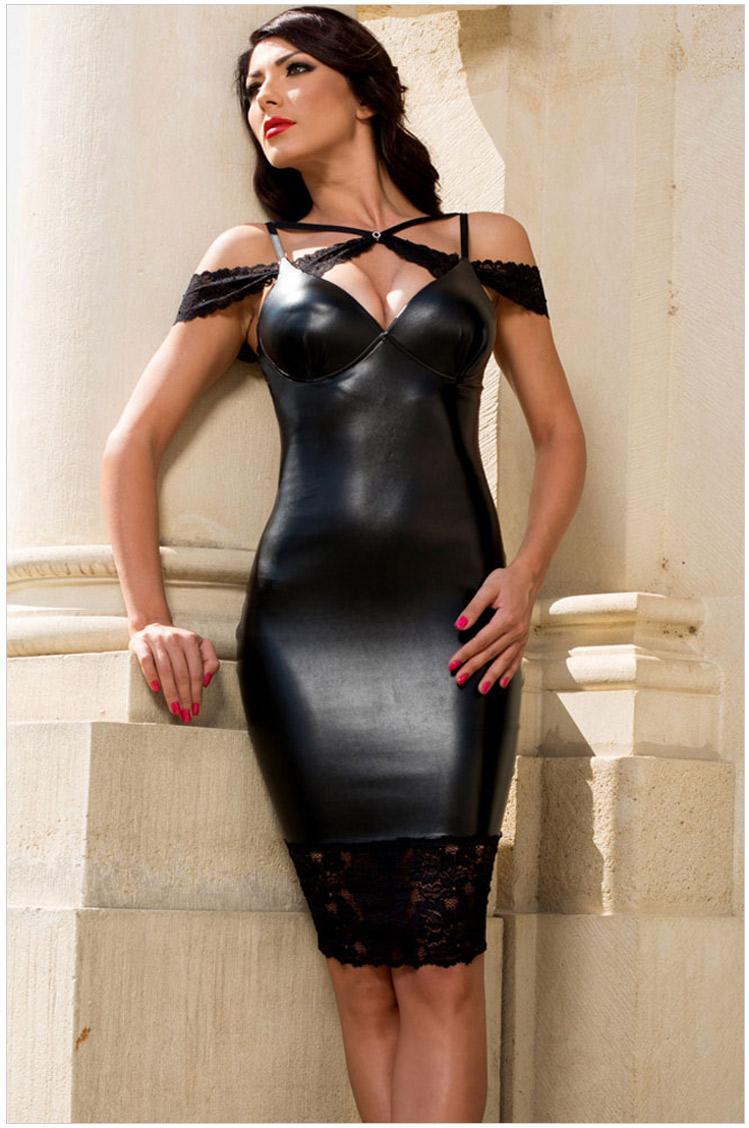 2016 New Sexy Women Casual Sexy Sensual Leather Bodycon