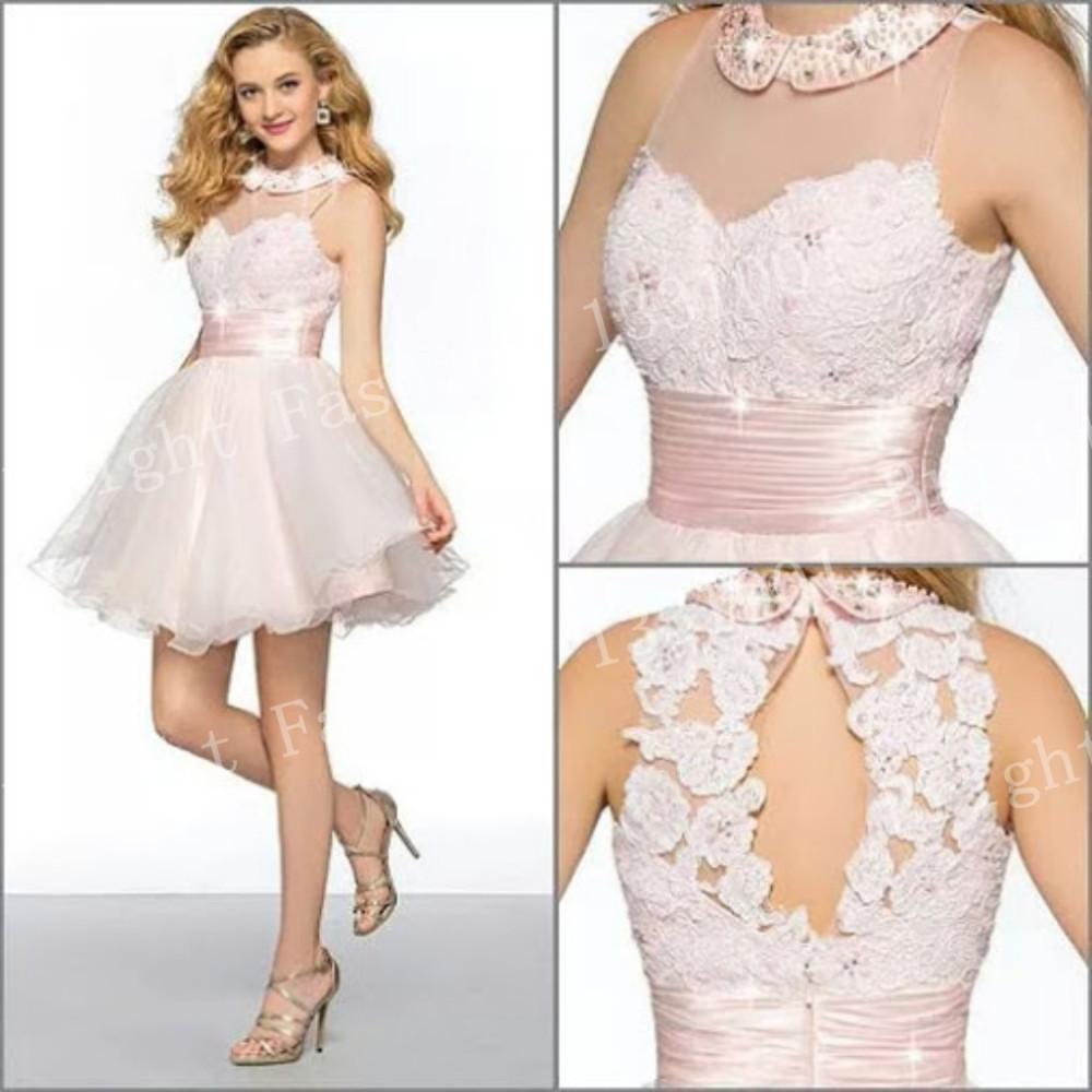 Romantic Elegant Short Mini Prom Dress Evening Dresses 2014 ...