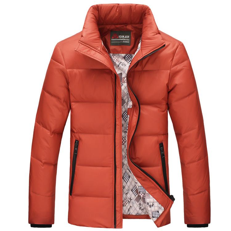 2015 Men&39s New Winter Jacket Men Slim Down Jacket Thin Coat Stand