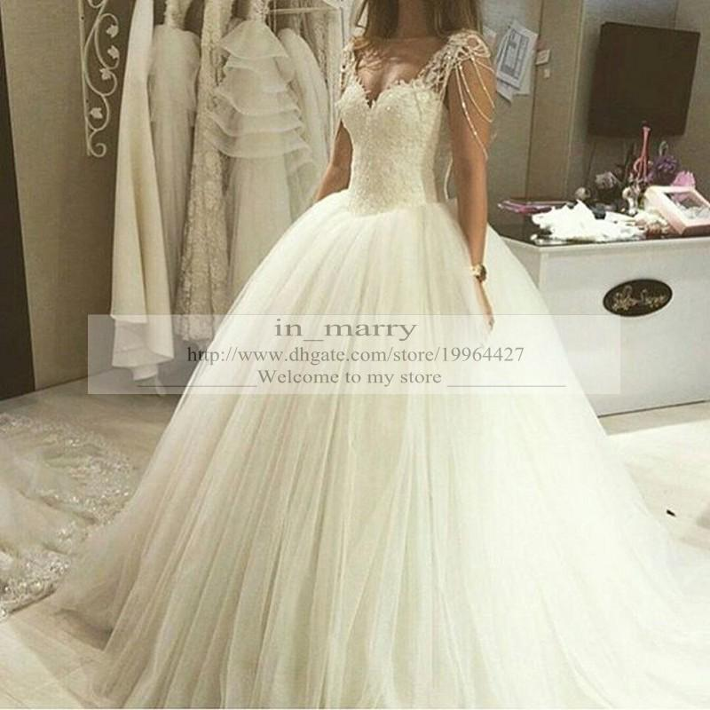 Victorian Plus Size Princess Wedding Dresses 2016 Ball Gown Vintage Lace Bead