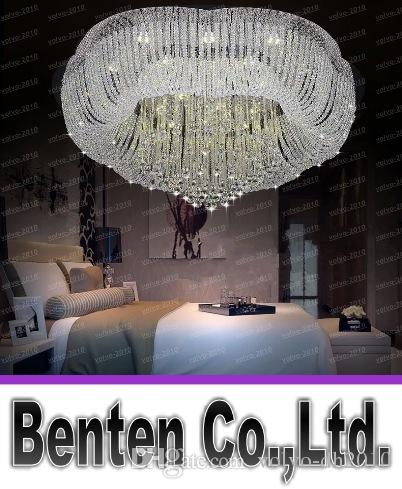 modern large led crystal chandelier kronleuchter lustres. Black Bedroom Furniture Sets. Home Design Ideas