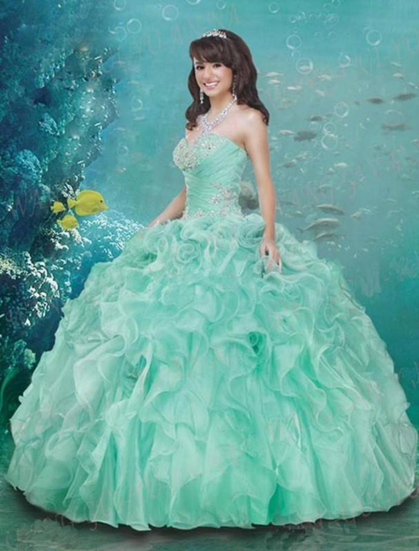 New 2015 Prom Dresses Plus Size Girls Quinceanera Dresses Ball ...
