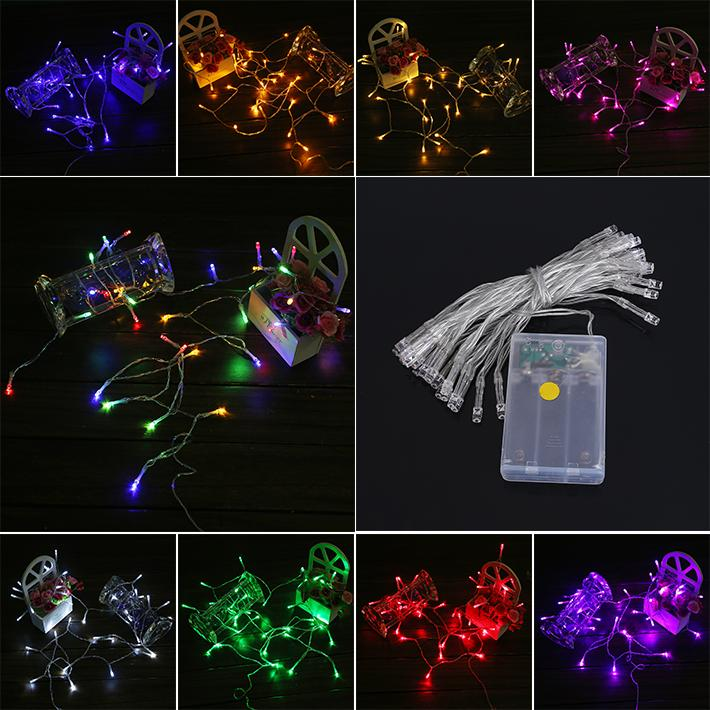 Purple Blue String Lights : Christmas Light 2m 3m 4m 5m Led String Mini Fairy Lights 3xaa Battery Operated White/Warm White ...