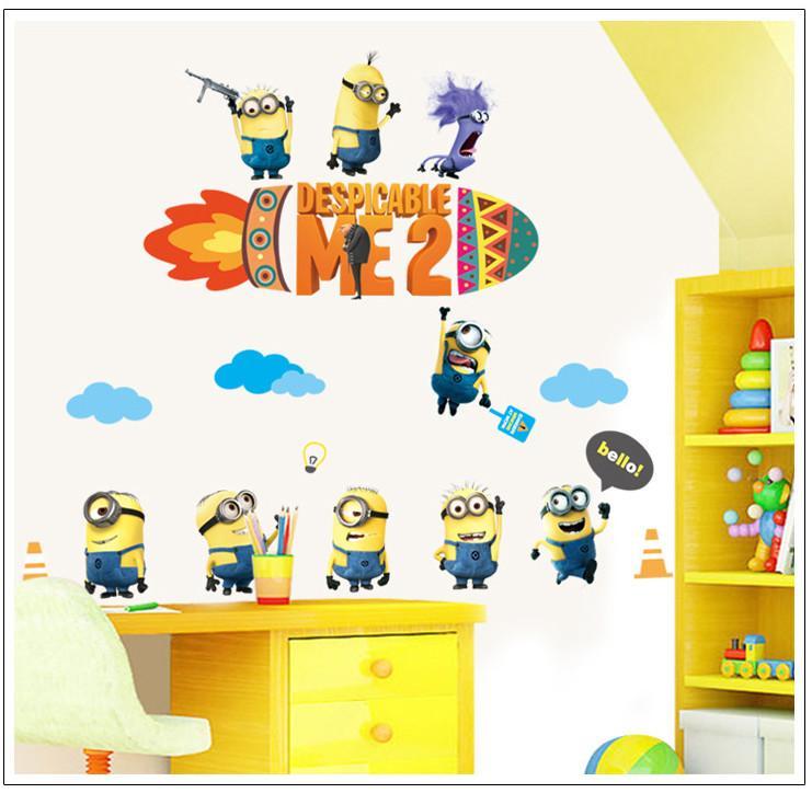 Nursery Kids Room Cartoon Minions Wall Decals  High Quality - Minion wall decals