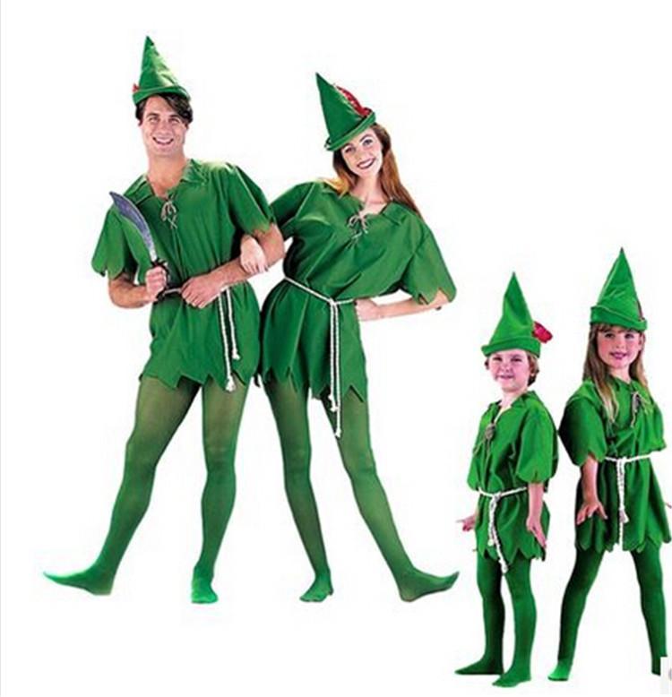 Cartoon Characters Costumes : Cartoon cosplay halloween costumes kits robin green elf