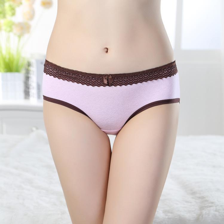 Wholesale New Women 100% Cotton Lace Panties Cotton Panties Female ...