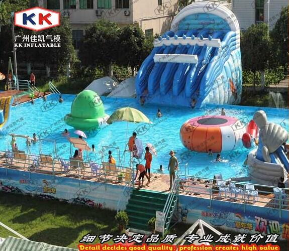 2018 giant steel frame pool with floating water sports - Used swimming pool slides for sale ...