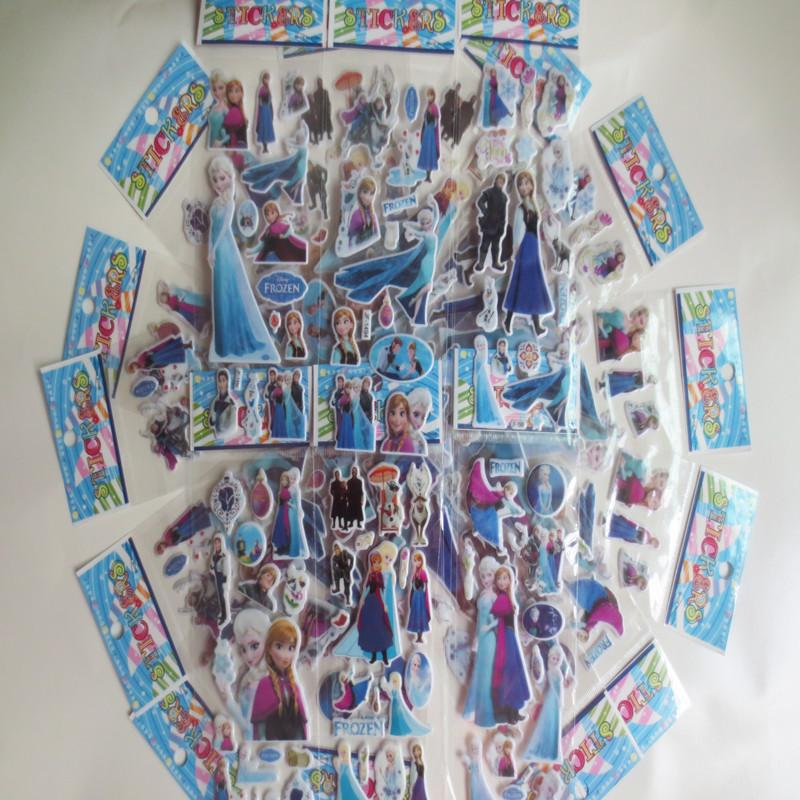 2017 frozen stickers wall elsa anna wall stickers decal for Room decor 3d foam stickers