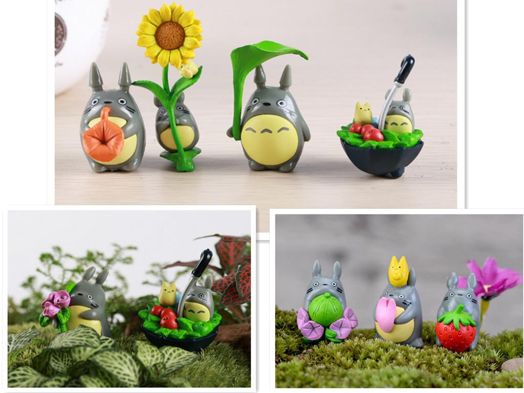 Miniature ornaments - Miniature Diy Resin Totoro Micro Landscape Garden Decoration Ornaments Accessory Potted Plants Decor Many Style Landscape Garden Decor Micro Landscape Decor
