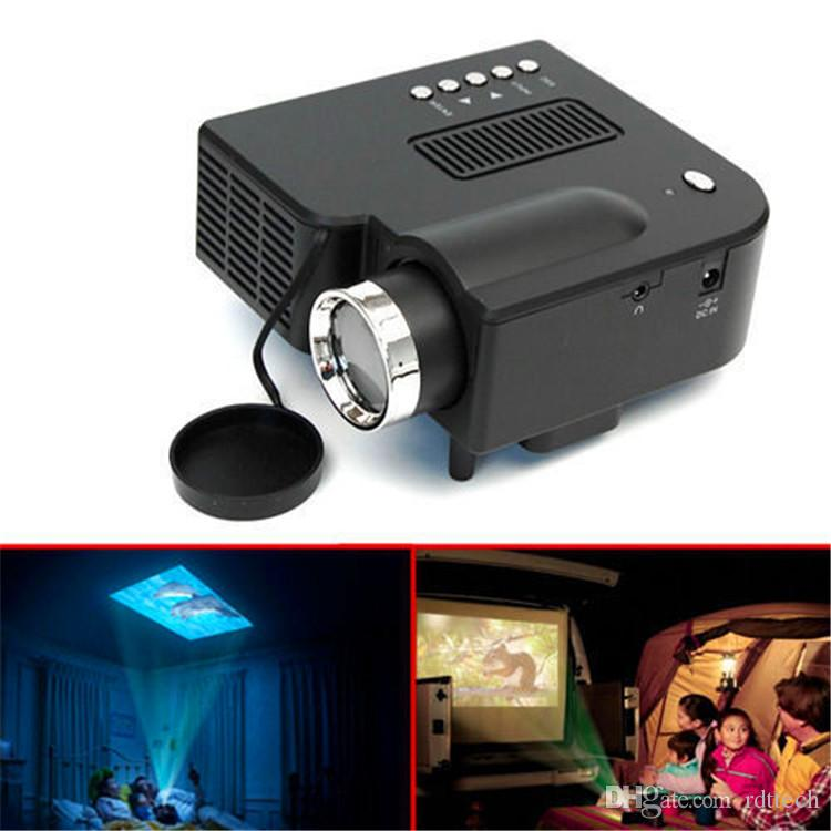 cheap mini projector led lamp portable projector with hdmi usb sd vga av handheld for tv pc. Black Bedroom Furniture Sets. Home Design Ideas
