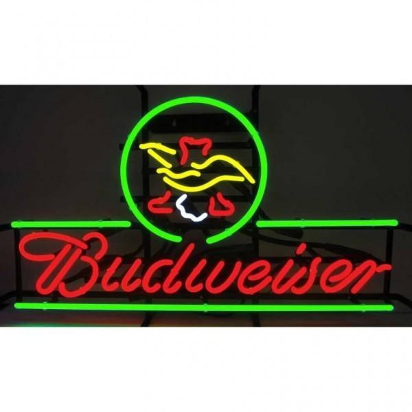 2018 New Budweiser Eagle Glass Neon Sign Light Beer Bar