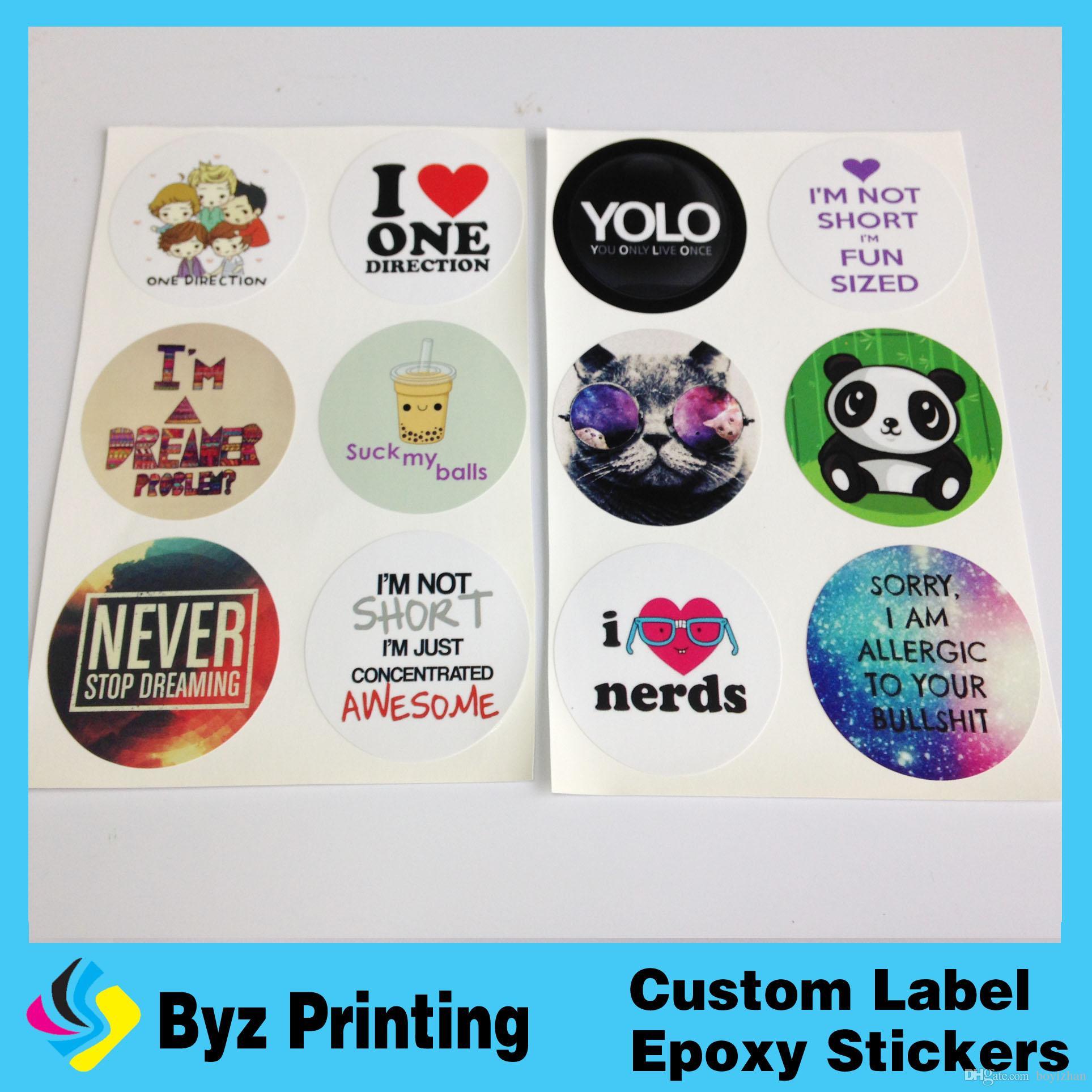China Accept Custom Order Printing Label Sticker Printed Paper - Order custom stickers online