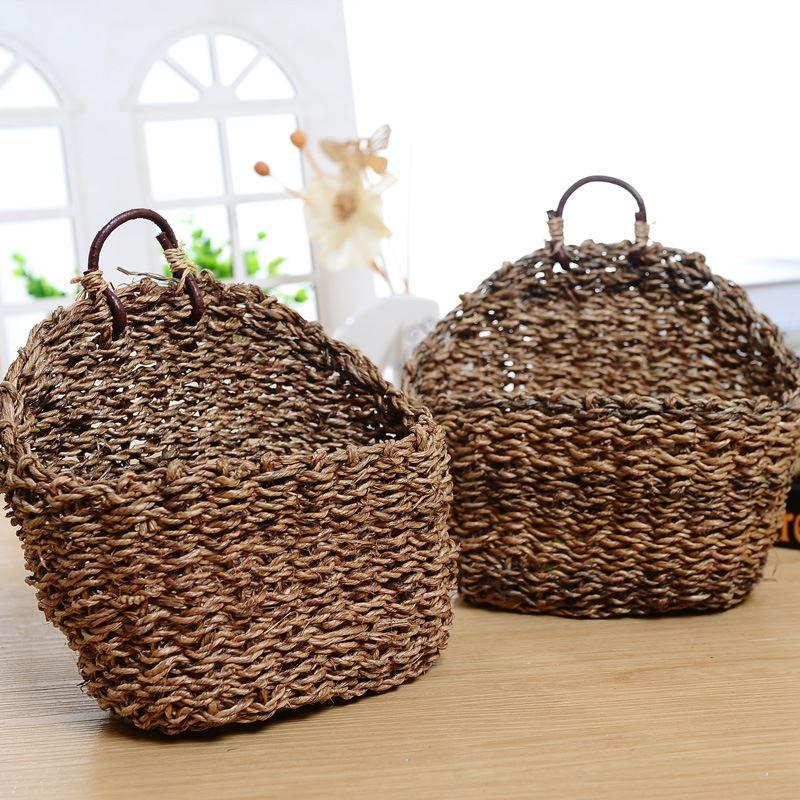 Straw Flower Hanging Baskets : Straw weaving crafts plant flower baskets hanging