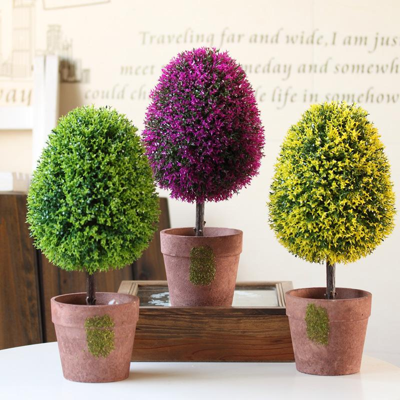 2017 hyson shop oval shape small tree artificial bonsai for Real plants for home decor