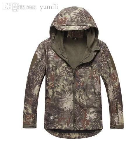 Fall-TYPHON TAD style Shark Skin Soft Shell Jacket Waterproof Hoodie Kryptek Style