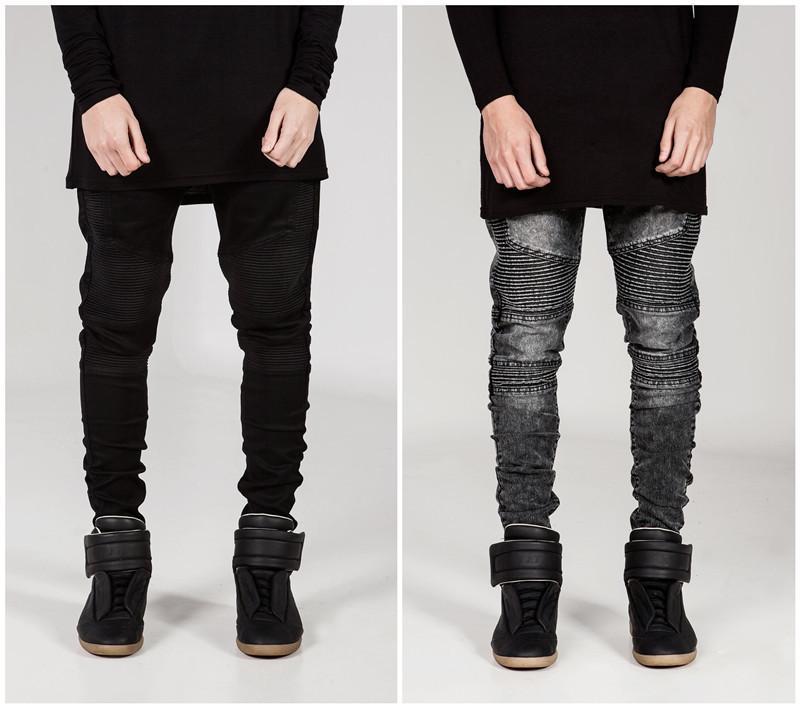 2017 Mens Skinny Jeans Men 2016 Runway Distressed Slim Elastic ...