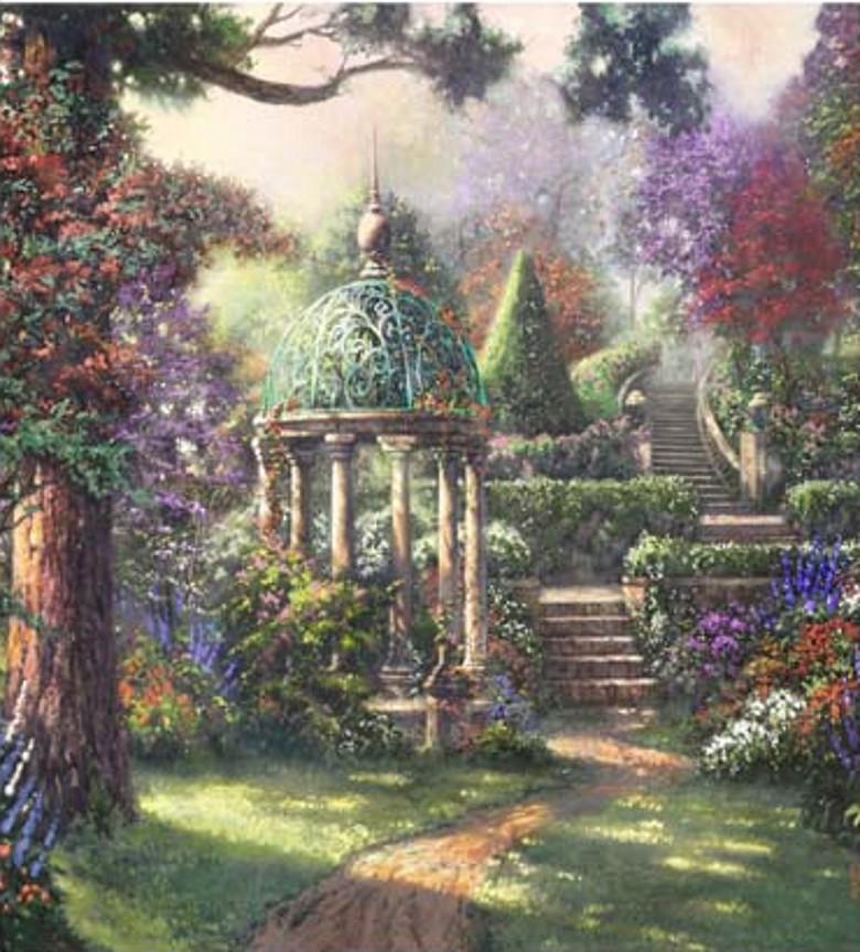 fairy garden white wallpaper - photo #24