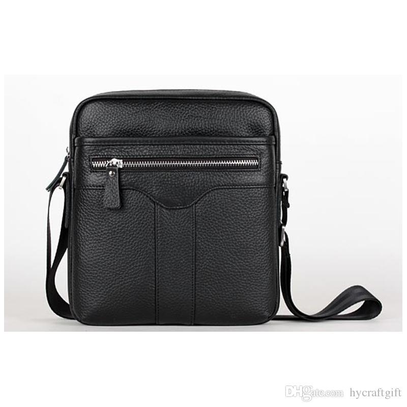 Luxury Brand Mens Genuine Leather Shoulder Messenger Bag Vintage ...