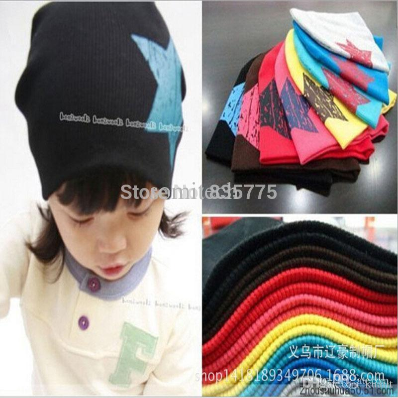 Online Cheap Fashion Lovely Five Star Baby Hats Beanie Lovely Colors Boy Images