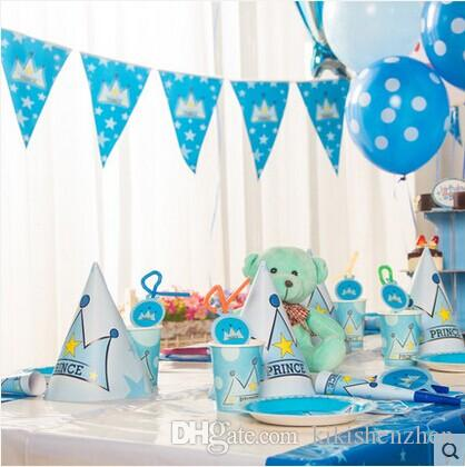 2017 luxury kids birthday decoration set boys princetheme for 1st birthday decoration packs