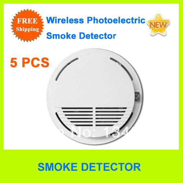 wireless photoelectric smoke detector smoke sensor 315 433mhz for home ptsn g. Black Bedroom Furniture Sets. Home Design Ideas