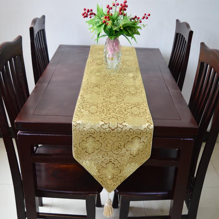 Elegant 120 Inches Extra Long Damask Christmas Decoration Table Runners  High Quality Luxury Banquet Table Cloth Multicolor Option Chrismtas Satin  Table ...