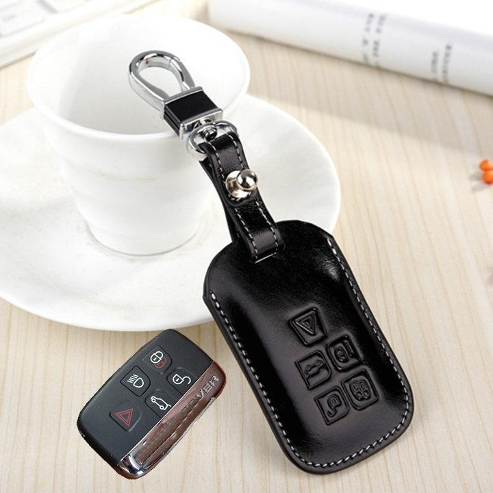 Fashion Genuine Leather Key Fob Cover For Land Rover Range Rover Sport Evoque Freelander 2