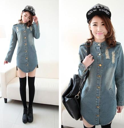 women long sleeve denim shirt dresses « Bella Forte Glass Studio